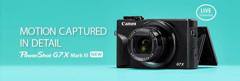 Digital Compact Cameras - PowerShot G7 X Mark III - Canon Malaysia