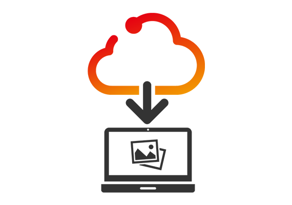 Seamless automatic image download from cloud storage
